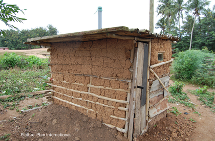 39-year-old Ewurama needs assistance to construct a household latrine